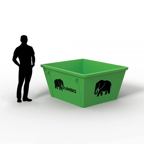 2m skip bin for hire in Brisbane for removal of unwanted waste following residential and domestic projects